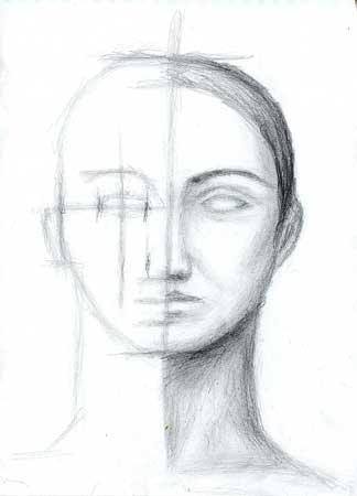 Рисунок портрета схема