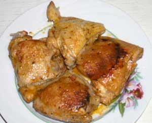 Куриные окорочка жареные