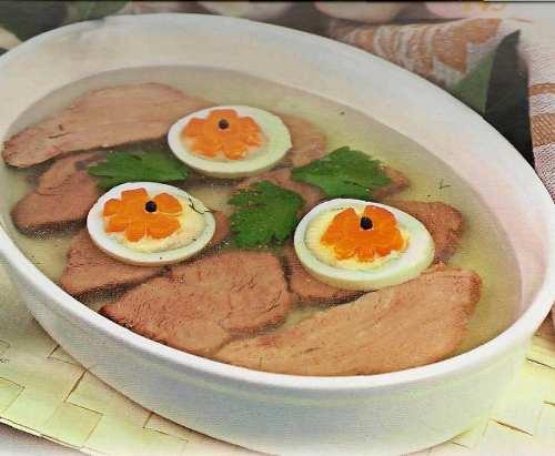 Заливное из мяса и рецептами